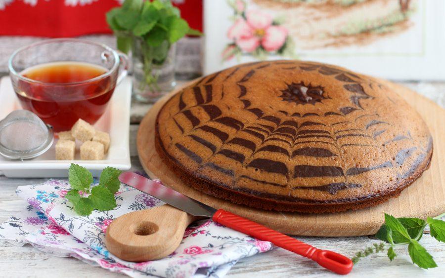 Пирог «Зебра» на кефире