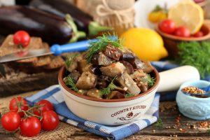 Баклажаны в медовом соусе «Как грибы»