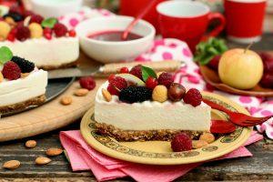Яблочно-творожный чизкейк без выпечки