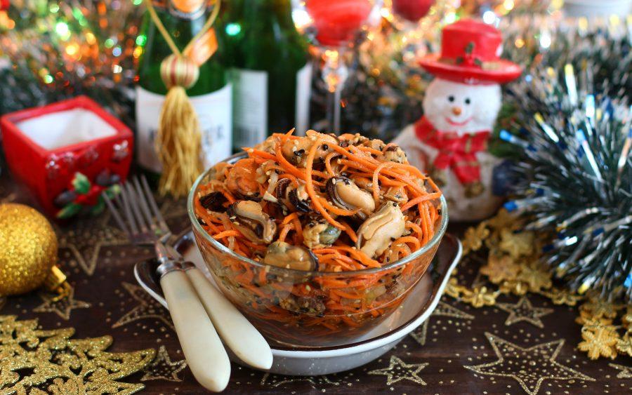 Закуска с мидиями на Новый год