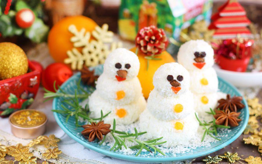 Домашние «Рафаэлло» из творога «Снеговики»