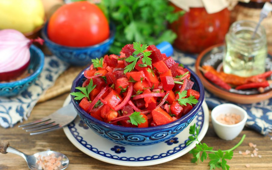 Марокканский свекольный салат