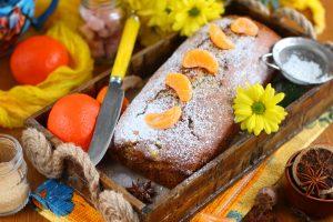 Мандариновый кекс с маком