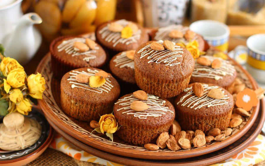 Кексы из фруктового пюре