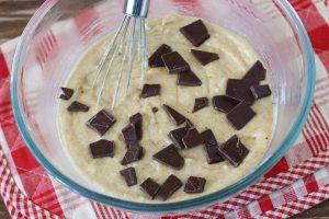 Банановый кекс с шоколадом