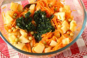 Картофельный салат с корейской морковью